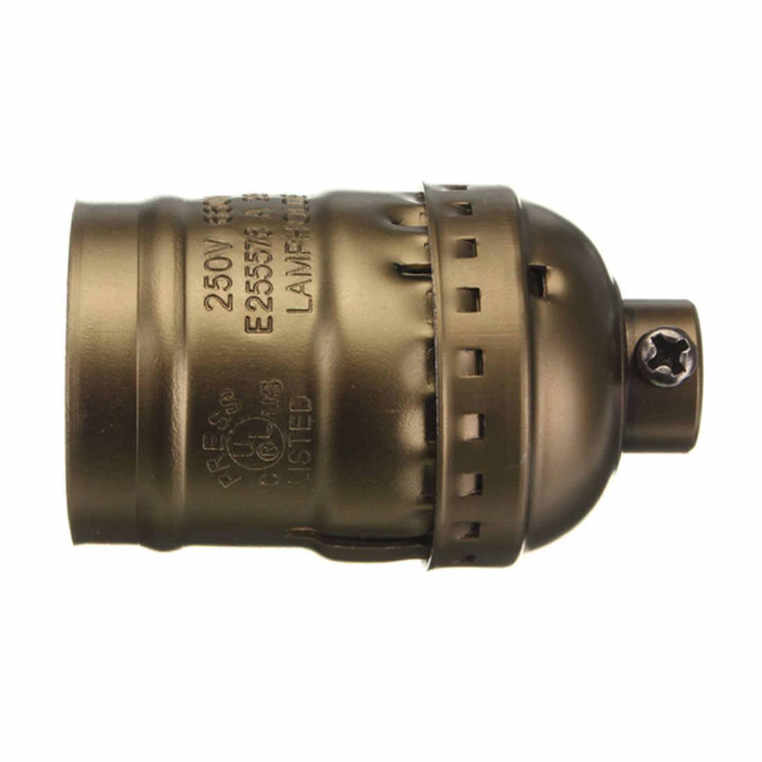 E27 Vintage Retro Edison Lamp Screw Bulb Aluminum Shell Base lamp Holder Pendant Bulb Light Socket  Without wire 110V 220V
