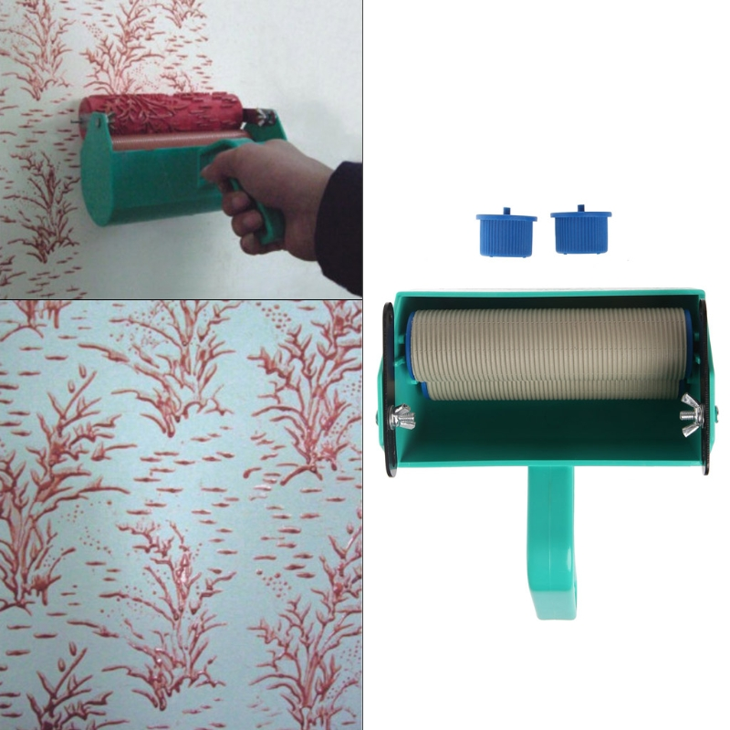Single Color Decoration Paint Painting Machine For 5 Inch Wall Roller Brush Tool Damom diy wall decoration tools 5 inch handle grip applicator plus 5 wall pattern painting roller 025y