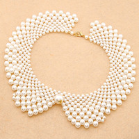 The Min Order Is 10 Mixed Order Fashion Jewelry Pearl Choker Collar Necklaces Handmade Weave Dress