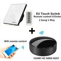 FUNRY Automation Kit Wifi APP Switch RC Mini Smart Wireless Remote Control Switch 433mhz WIFI Smart