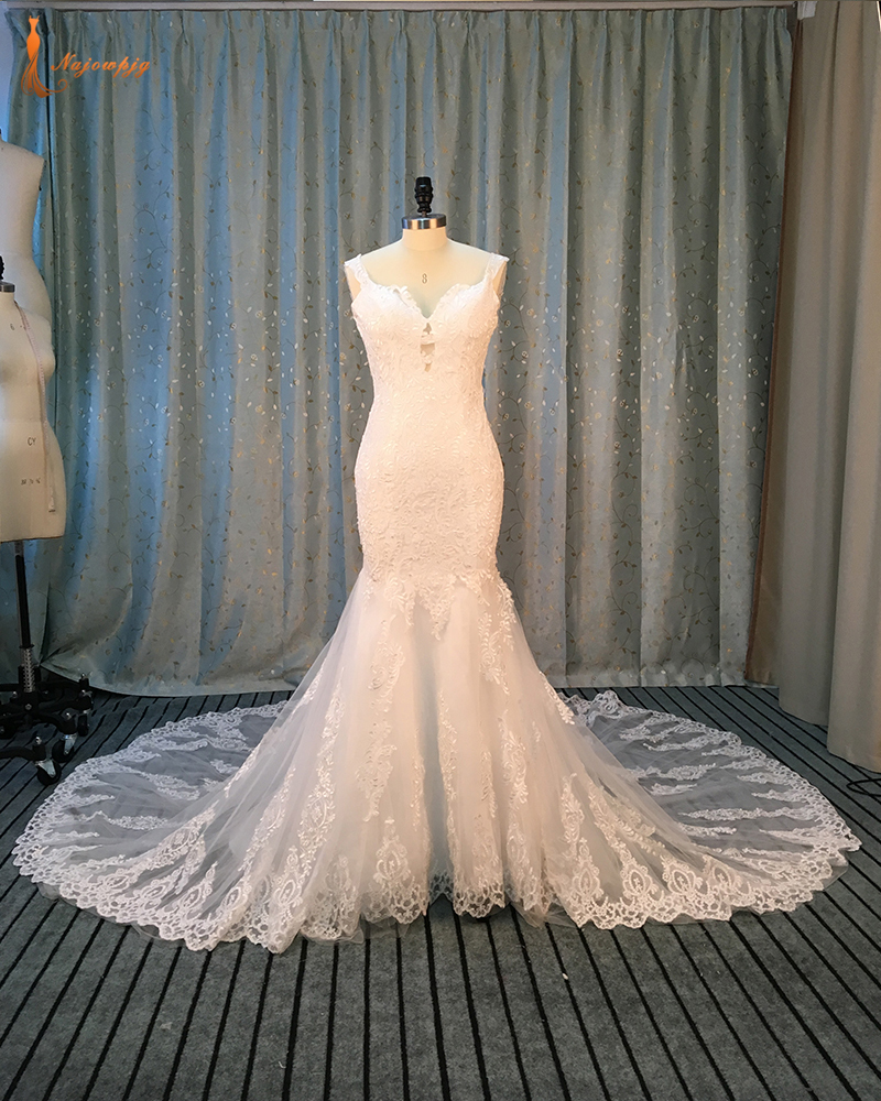Najowpjg Custom Made Gorgeous Chapel Train Wedding Dresses Online Shop China Vestido Casamento
