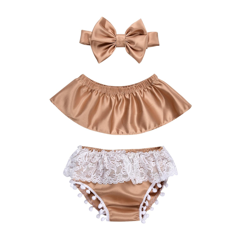 3 шт. рюшами с плеча майка комплект из 2 предметов наряд для маленьких девочек одежда принцессы комплект
