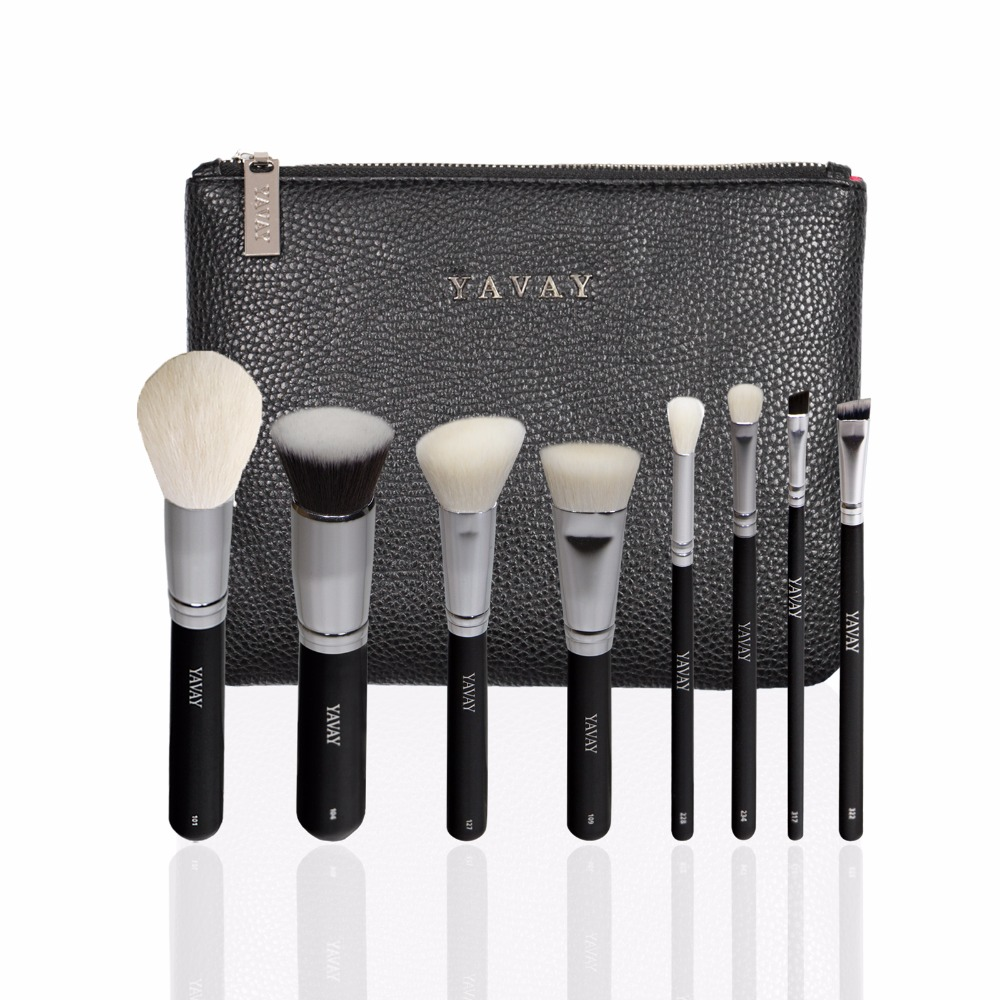 YAVAY 8pcs Pro Makeup Brushes Set Foundation Blending Powder Eyeshadow Contour Concealer Blush Cosmetic Beauty Make Up Kits focallure 10pcs makeup brushes set foundation blending powder eyeshadow contour blush brush beauty cosmetic make up tool kit