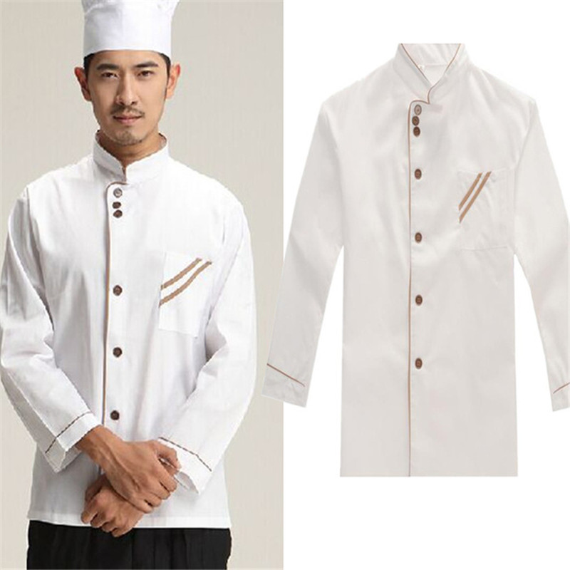Kitchen Chef Jacket Uniforms Full Sleeve Cook Clothes Food Services Frock Coats Work Wear