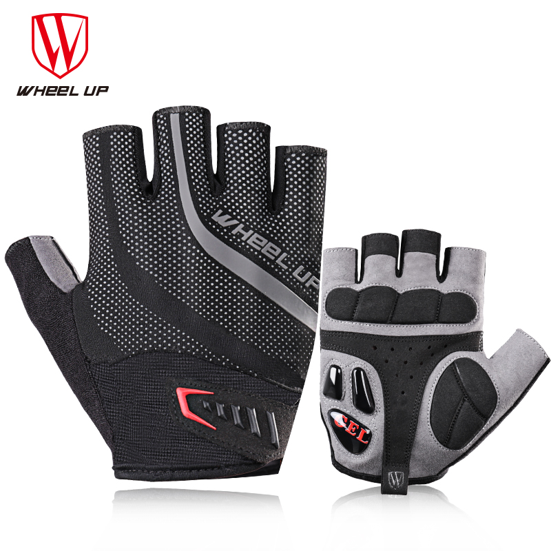 Wheel Up Cycling <font><b>Gloves</b></font> <font><b>Gel</b></font> Half Finger Bicycle <font><b>Gloves</b></font> Shockproof Breathable <font><b>Mountain</b></font> <font><b>Bike</b></font> <font><b>Gloves</b></font> Men Sports Riding Accessories image