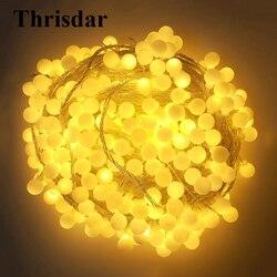 Thrisdar 100 м 800 светодиодный шар, Рождественский светодиодный светильник, гирлянда, уличный сад, патио, задний двор, свадьба, шар, сказочный свет...