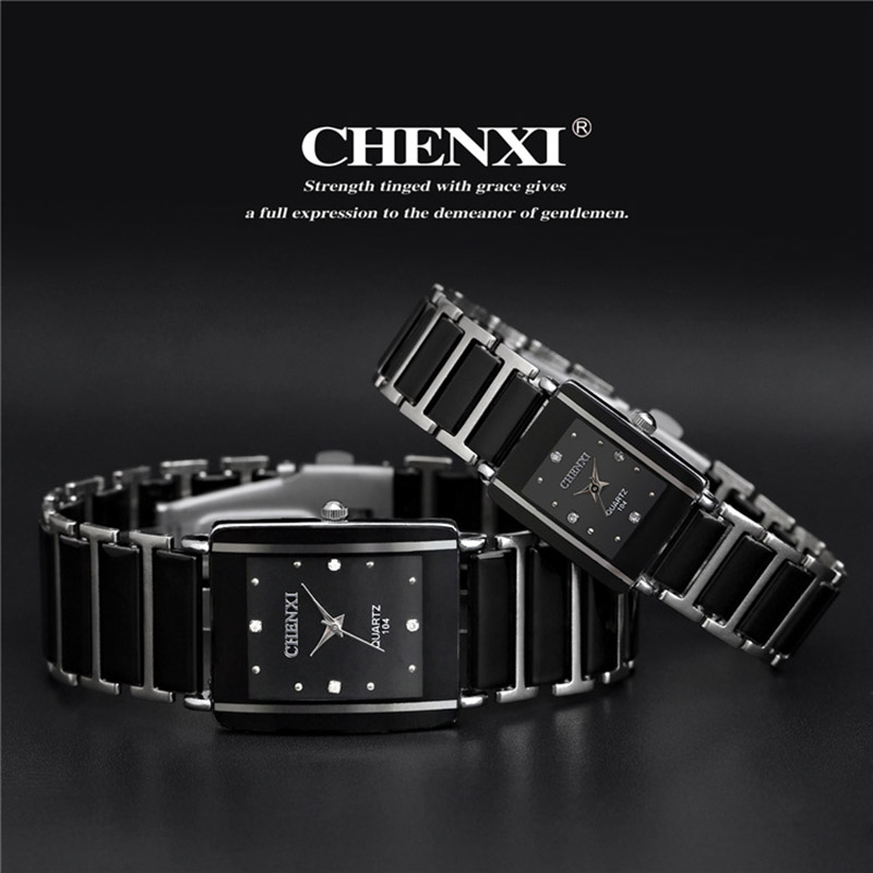 Casual Women Watch Classic Black Ceramics Armband Rhinestone Lady - Damklockor - Foto 4