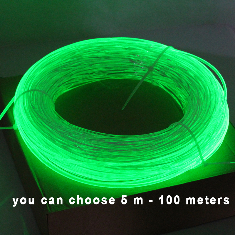 Side Glow Fiber Optic Light Cable 5 meters 3.0mm Optical Lighting Optical Fiber Cable for Car Night Lights & Home Decoration