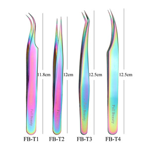 Image 4 - Chameleon Eyebrow Tweezers Curved/Straight Eyelash Extension Clip Nipper Picker Trimmer Rhinestone Makeup Tools Manicure TRFB1 4