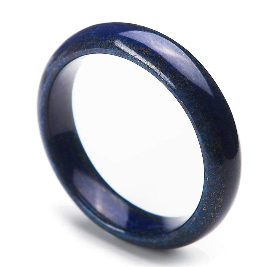 2017 bracelets en pierre naturelle de mode pour les femmes cadeau de la mère véritable bleu or Lapis Lazuli bracelet diamètre intérieur 56mm