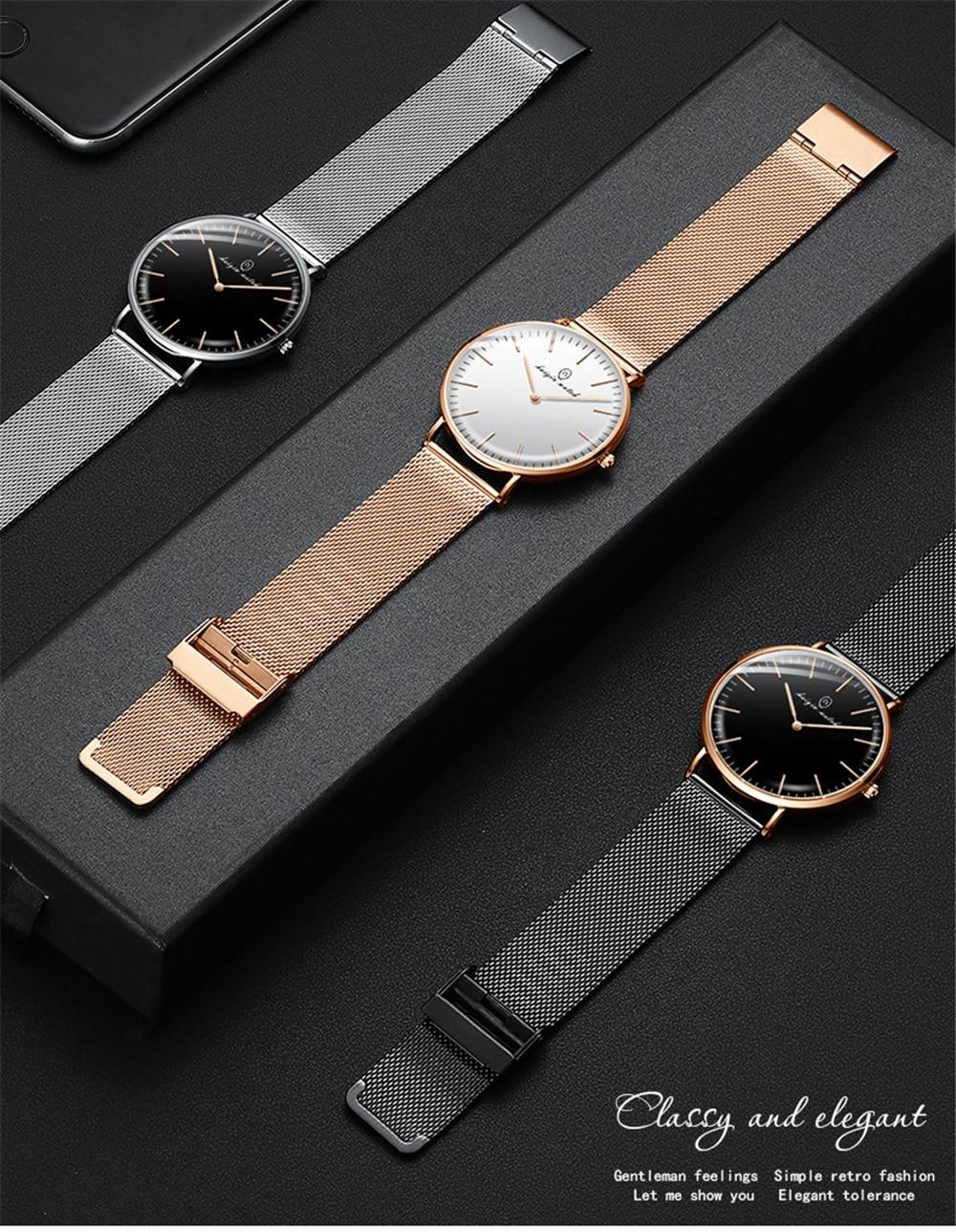 Quartzo relógio de Pulso Relógios Casal Para