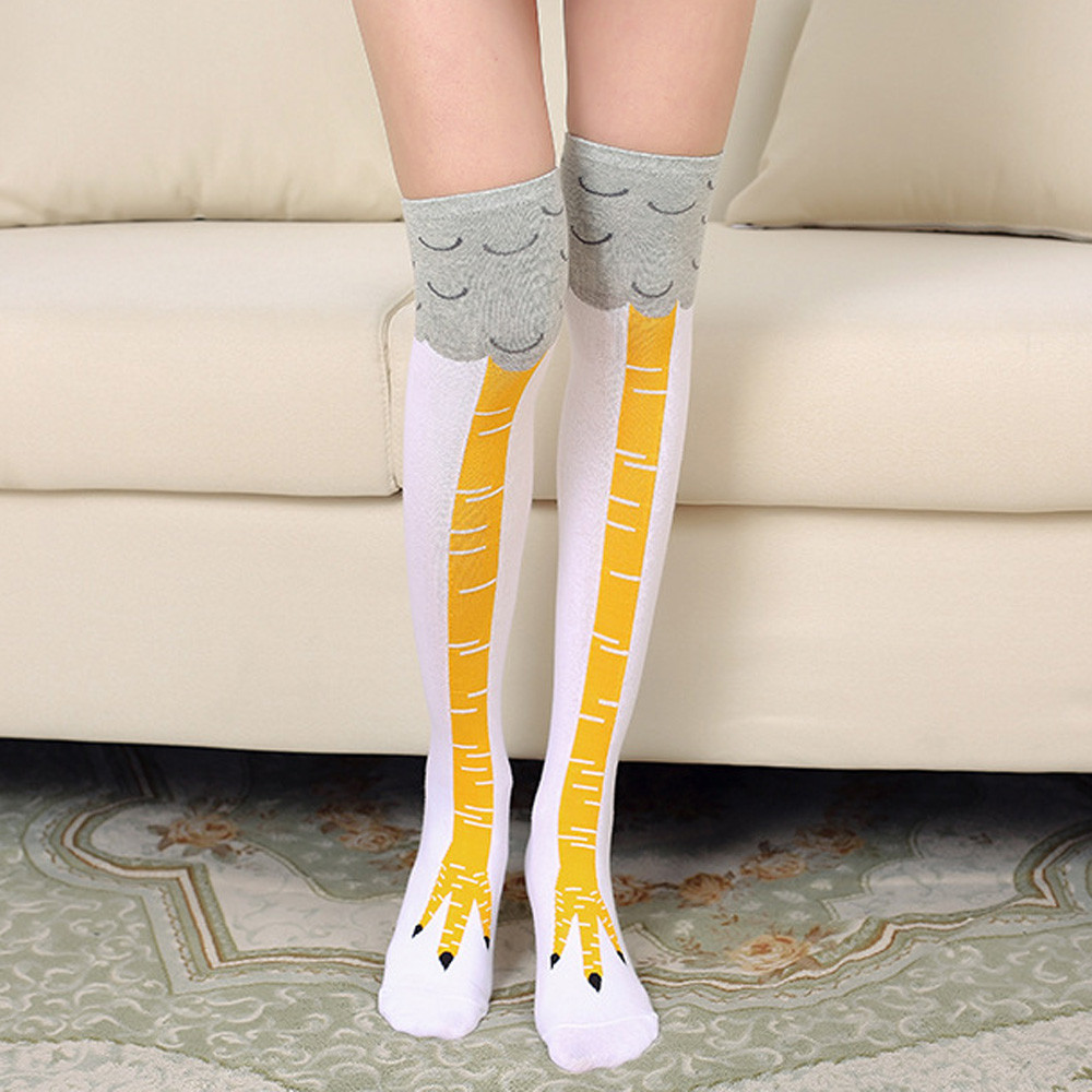 Cartoon Chicken Thigh Socks
