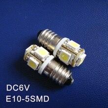 Высокое качество D6.3V 6V E10 светодиодный светильник Предупреждение льный сигнал, пилотные лампы, индикаторный светильник s, приборные лампы, 5шт/партия