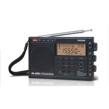 Oryginalny tecsun pl-680 odbiornik stereo przenośne radia cyfrowego dsp radio fm radio syntetyzowane w/zasilacz i baterii czarny