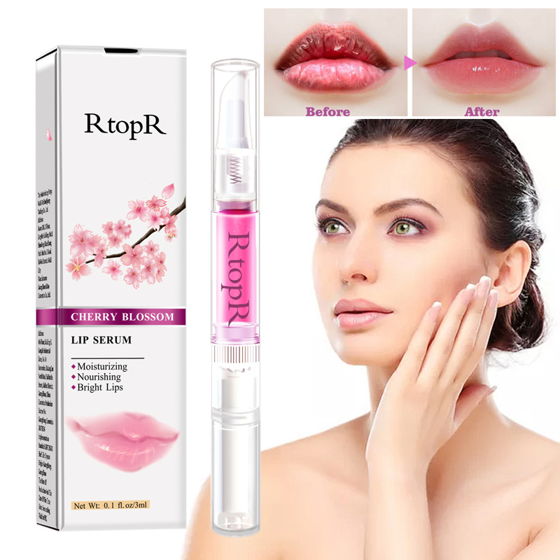 Cherry Lip Care Serum Lip Plumper Repairing Reduce Lips Mask Fine Lines Increase Moisturizing Lips Elasticity Beauty Hot TSLM1