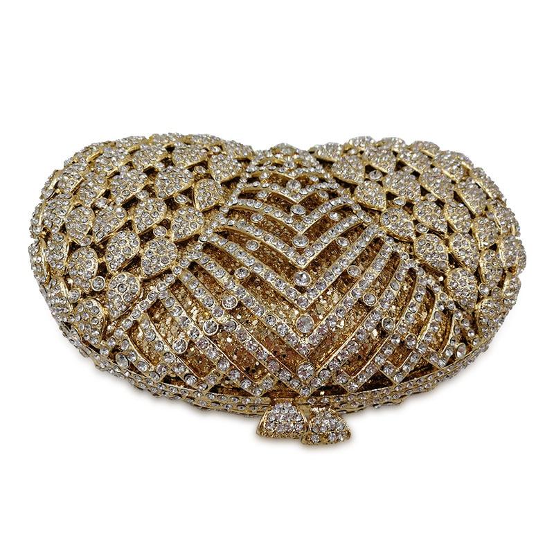 diamant Pochette En Silver De Argenté Sacs Cristal D'or Luxe Jour Soirée Trousse Livre Fleur Mariage golden Robe Sac Toilette Paquet fqBB1I