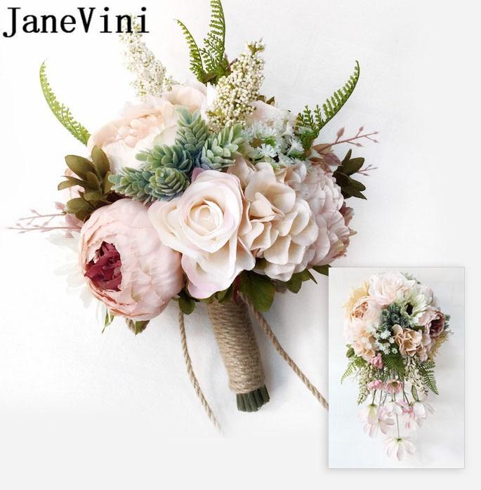 Vintage Wedding Flower Bouquets: JaneVini Vintage Peony Bridal Bouquet Holder Wedding