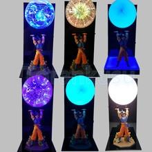 Dragon Ball Z Figure Son Goku Spirit Bomb DIY Display Led Lamp