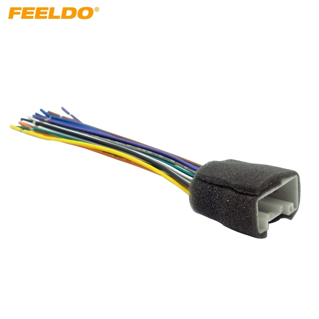 FEELDO CAR RADIO STEREO WIRING HARNESS ADAPTER For MITSUBISHI LANCER 08 14 Aftermarket Installation CD DVD_640x640 feeldo car radio stereo wiring harness adapter for mitsubishi aftermarket wiring harness for cars at eliteediting.co