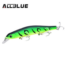ALLBLUE Best Quality Fishing Wobbler 17.5g/110mm Suspend Minnow Pike Bass Fishing Lures With 6# Owner Hook peche isca artificial