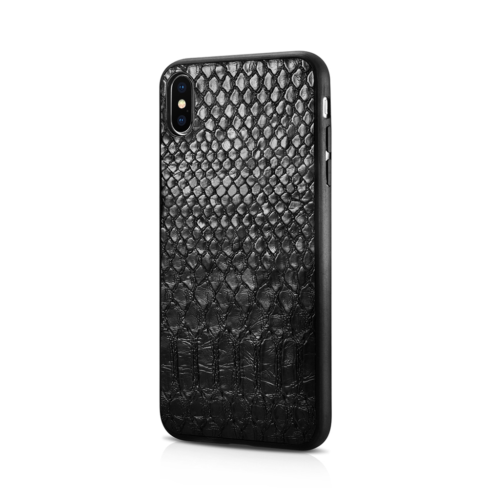 XOOMZ PU Leather Case for iPhone X XS XR XS MAX Snake Skin Shape Slim Back Hard Case cover for Apple iPhone XR X XS MAX Shell iPhone