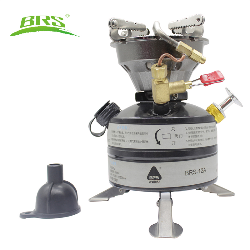 BRS Newest Mini Liquid Fuel Camping Gasoline Stoves Portable Outdoor One piece Stove Burners Cooker Gas