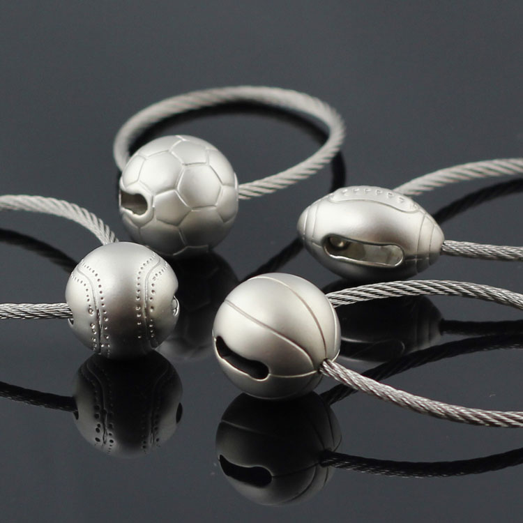 Sports Series Souvenirs Wire Rope Keyring Soccer Football