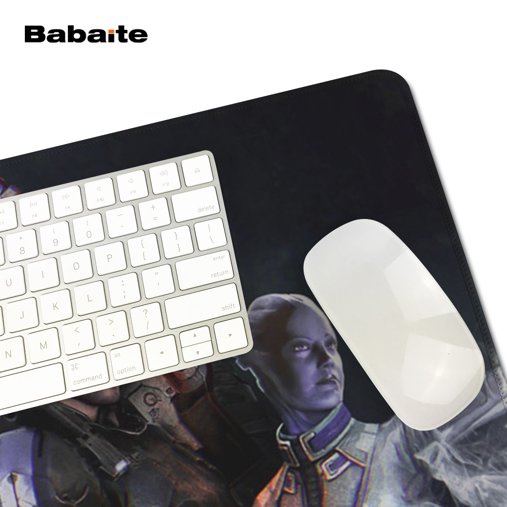 Babaite High quality Mass Effect Dragon Gaming Mouse Pad 900 * 300 * 2mm Locking Edge Mouse Pad Speed version Mouse Pad DOAT