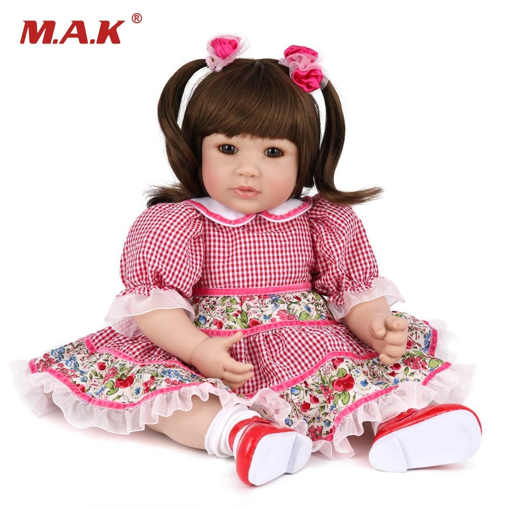Здесь продается  Adorable Princess Doll 50 CM Soft Silicone Reborn Baby Doll Toy For Girls Realistic 22 Inches bebe Reborn boneca  Игрушки и Хобби