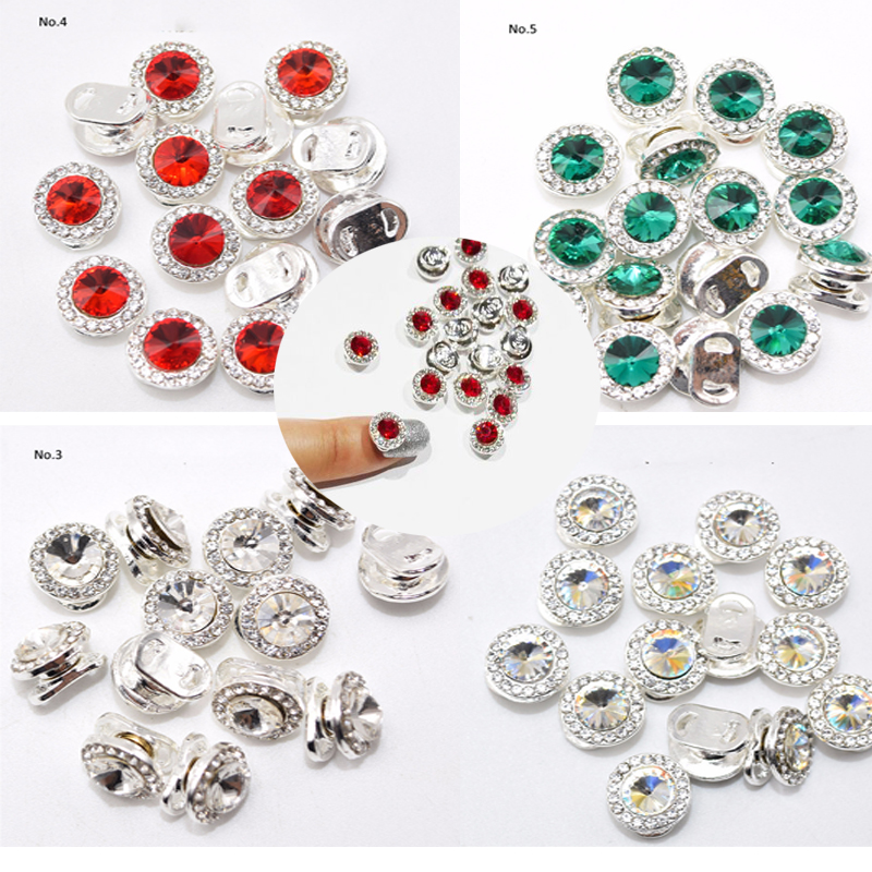 1pc High Speed Nail Rhinestones Red Green Crystal Nail Spinning Rotating Rhinestones Decorations For Nail jewelry Accessories JE in Rhinestones Decorations from Beauty Health