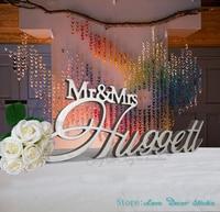 Custom Mr Mrs Last Name Wedding Table Sign Big CenterPiece Decoration Personalized Sign Custom Sign Wedding