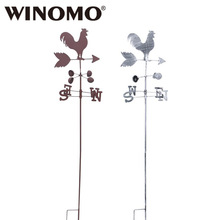 WINOMO Old Cock Weather Vane Stock Garden Flower Garland Flower Garden Park Decoration Craft