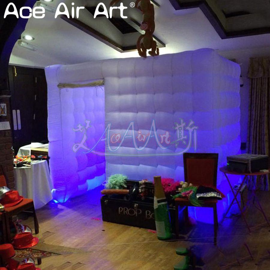 Новинка разработан частичная дверь красивые корпус Фотокабины, взорвать фото куб вечерние партия палатка для продажи