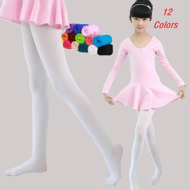 dc901fc0fc4 Girls Pantyhose Solid Velvet Leggings For Girls Ballet Pants For Children  Clothing Summer Dance Wear Long Stockings 1-9Years