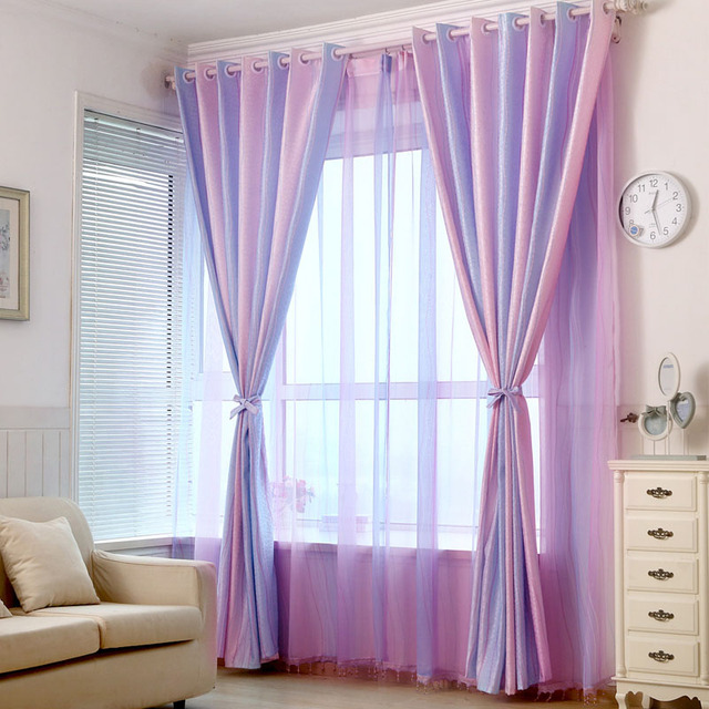 Modern Curtains For Living Room Luxury Window Jacquard Bedroom Pink