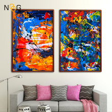 NOOG Colorful Abstract Canvas Paintings Modern Wall Art Poster and Prints Nordic Pictures for Living Room