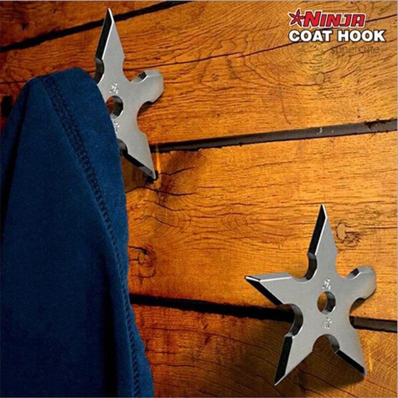 office coat hangers. 1pcs novelty cool ninja darts metal steel wall mount bag coat hook hanger for home office hangers