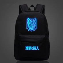 Attack on Titan Anime School Bag noctilucous Luminous backpack Student bag Notebook backpack Daily backpack Glow in the Dark warframe school bag noctilucous backpack student school bag notebook backpack daily backpack