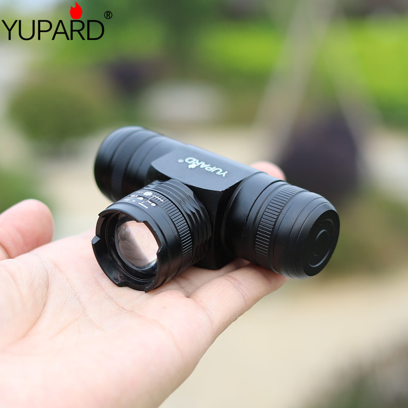 YUPARD Zoomable Zoom IN/OU T6 L2 led phare ajuster phare 5 Mode étanche AAA 18650 batterie rechargeable 1000lm torche