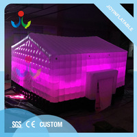 8 7 м открытый надувной дом модель куб палатка со светодио дный подсветкой