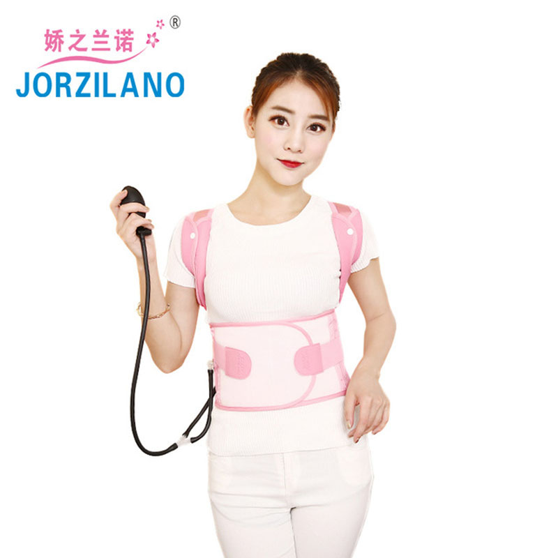 JORZILANO adjust enhanced air pressure back posture corrector lumbar spine support braces belt humpback Pain Relief