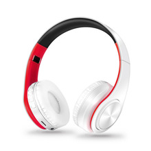 Free Shipping Stereo Shinning Bluetooth Headphones Wireless Stereo Headsets with Mic Support TF Card for iPhone Samsung Calls