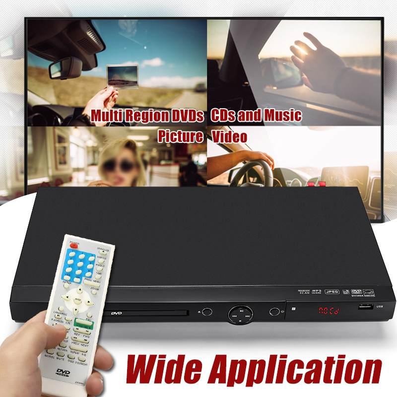 Lecteur DVD Portable USB 1080 P Full HD région lecture Multiple DIVXs lecteur DVD CD RW lecteur LED lecteur DVD MP3 pour réunion