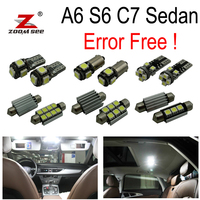14pc X Nice canbus Error Free LED Interior Reading Dome Light Kit Package for Audi A6 S6 RS6 C7 Sedan (2012 2017)