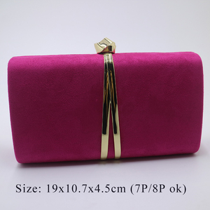 Image 2 - Nuphia Suede Evening Clutch Bags and Party Clutches Evening Bags for Women Yellow Royal Blue Orange Red Purple