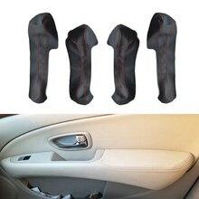 Voor Nissan Slyphy Sentra 2006 2007 2008 2009 2010 2011 4 Stks/set Auto Deurklink Armsteun Panel Microfiber Leather Cover