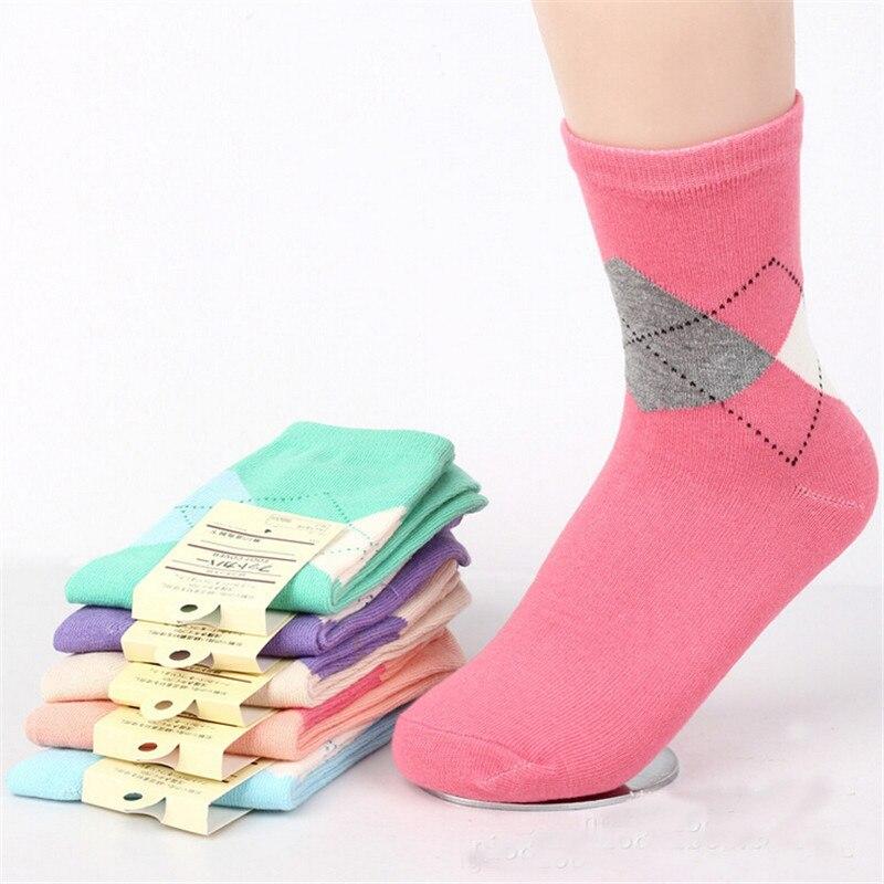 Venta caliente! Calcetines mujeres algodón 5 par/lote calcetín ...