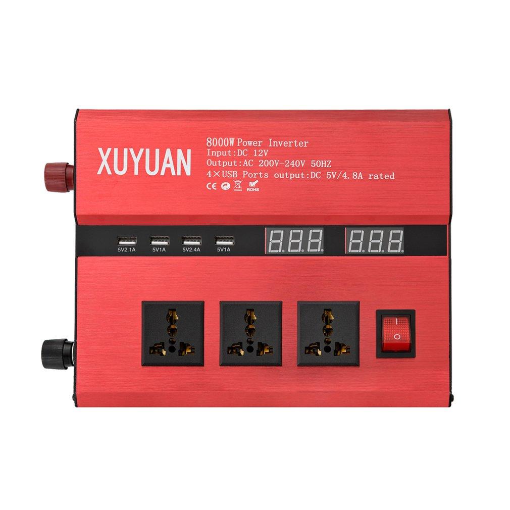 8000W Solar Power Inverter USB LED Display AC/DC Sine Wave Converter