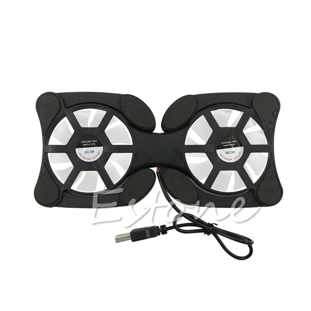 Foldable Cool Cooler Cooling USB Dual Fans Notebook Stand Fan Pad w/2 Fan for 14.1 Laptop Notebook DN001 ...