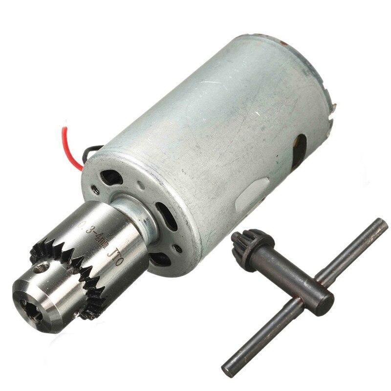 DIY Electric Hand Drill DC 12V-24V 555 Motor High Torque 12000RPM With JT0 Chuck